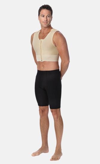 Canotta per liposuzione uomo con zip MV